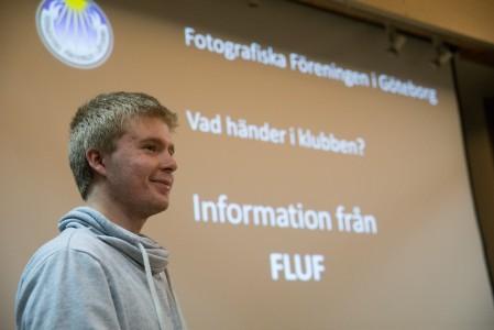 Emil presenterar FLUF - Foto: Stefan Kroll