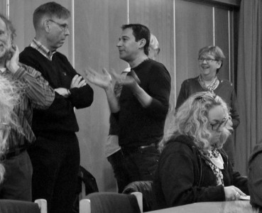 Livliga diskussioner förekom! Foto: Cristina Santos